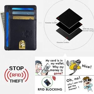 Other - NEW Leather Minimalist RFID Front Pocket Wallet